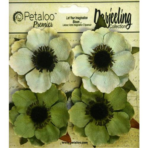 Petaloo - Darjeeling Collection - Floral Embellishments - Anenome - Green