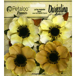 Petaloo - Darjeeling Collection - Floral Embellishments - Anenome - Yellow