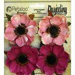 Petaloo - Darjeeling Collection - Floral Embellishments - Anenome - Pink