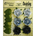 Petaloo - Darjeeling Collection - Floral Embellishments - Garden Rosette - Blue