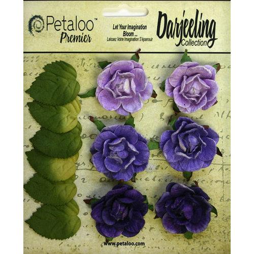 Petaloo - Darjeeling Collection - Floral Embellishments - Garden Rosette - Purple