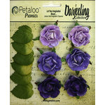 Petaloo - Darjeeling Collection - Floral Embellishments - Garden Rosette - Purple