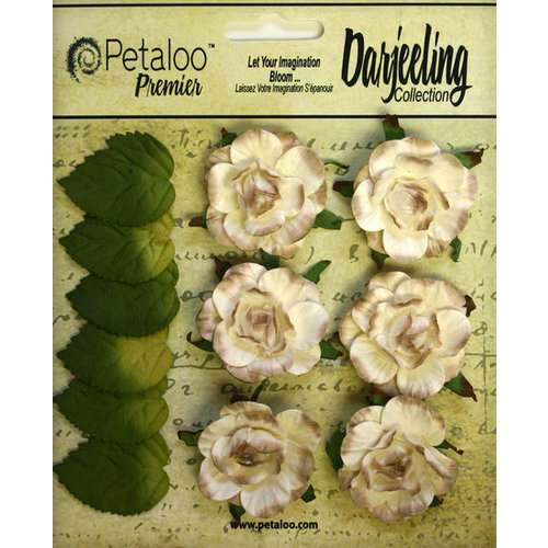 Petaloo - Darjeeling Collection - Floral Embellishments - Garden Rosette - Cream