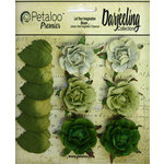 Petaloo - Darjeeling Collection - Floral Embellishments - Garden Rosette - Green