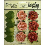 Petaloo - Darjeeling Collection - Floral Embellishments - Garden Rosette - Spice