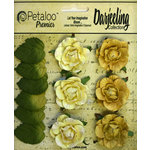 Petaloo - Darjeeling Collection - Floral Embellishments - Garden Rosette - Yellow