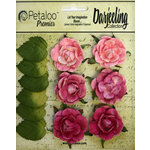 Petaloo - Darjeeling Collection - Floral Embellishments - Garden Rosette - Pink