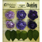 Petaloo - Darjeeling Collection - Floral Embellishments - Mini Garden Rosette - Purple