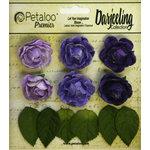 Petaloo - Darjeeling Collection - Floral Embellishments - Mini Garden Rosette - Purple
