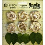 Petaloo - Darjeeling Collection - Floral Embellishments - Mini Garden Rosette - Cream