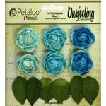 Petaloo - Darjeeling Collection - Floral Embellishments - Mini Garden Rosette - Teal