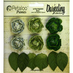 Petaloo - Darjeeling Collection - Floral Embellishments - Mini Garden Rosette - Green