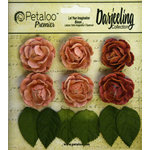 Petaloo - Darjeeling Collection - Floral Embellishments - Mini Garden Rosette - Spice