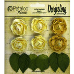 Petaloo - Darjeeling Collection - Floral Embellishments - Mini Garden Rosette - Yellow