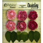 Petaloo - Darjeeling Collection - Floral Embellishments - Mini Garden Rosette - Pink