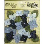 Petaloo - Darjeeling Collection - Floral Embellishments - Hydrangeas - Blue
