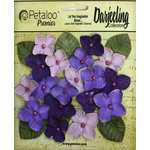 Petaloo - Darjeeling Collection - Floral Embellishments - Hydrangeas - Purple