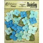 Petaloo - Darjeeling Collection - Floral Embellishments - Hydrangeas - Teal