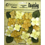 Petaloo - Darjeeling Collection - Floral Embellishments - Hydrangeas - Yellow