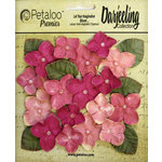 Petaloo - Darjeeling Collection - Floral Embellishments - Hydrangeas - Pink