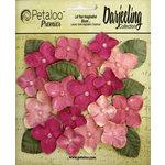 Petaloo - Darjeeling Collection - Floral Embellishments - Hydrangeas - Pink