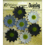 Petaloo - Darjeeling Collection - Floral Embellishments - Mini Daisy - Blue