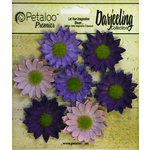 Petaloo - Darjeeling Collection - Floral Embellishments - Mini Daisy - Purple