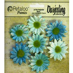 Petaloo - Darjeeling Collection - Floral Embellishments - Mini Daisy - Teal