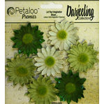 Petaloo - Darjeeling Collection - Floral Embellishments - Mini Daisy - Green