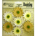 Petaloo - Darjeeling Collection - Floral Embellishments - Mini Daisy - Yellow