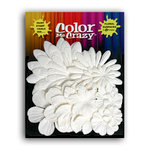 Petaloo - Color Me Crazy Collection - Mulberry Paper Flowers - Assorted Flower Layers - White, CLEARANCE