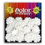 Petaloo - Color Me Crazy Collection - Mulberry Paper Flowers - Mini Delphiniums - White