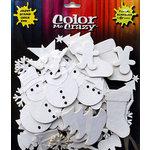 Petaloo - Color Me Crazy Collection - Cotton Paper Shapes - Christmas