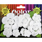 Petaloo - Color Me Crazy Collection - Crocheted Flowers - White