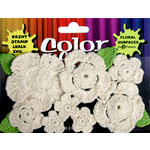 Petaloo - Color Me Crazy Collection - Crocheted Flowers - Natural