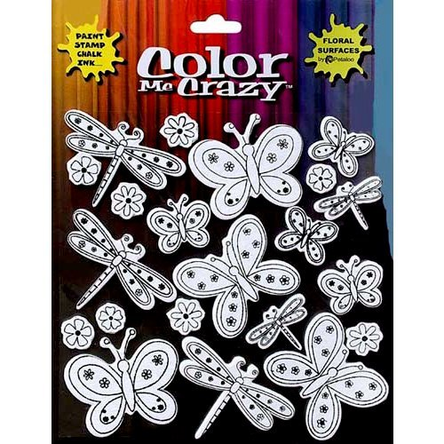 Petaloo - Color Me Crazy Collection - Silhouettes - Butterflies and Dragonflies