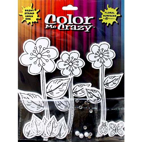 Petaloo - Color Me Crazy Collection - Silhouettes - Daisies