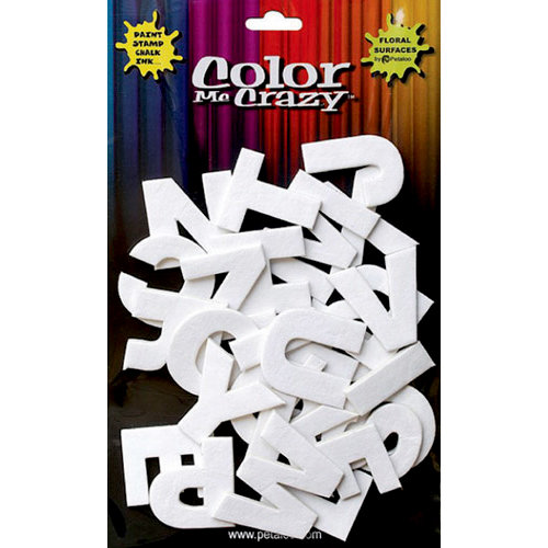 Petaloo - Color Me Crazy Collection - 3 Dimensional Foam Stickers - Upper Case Letters
