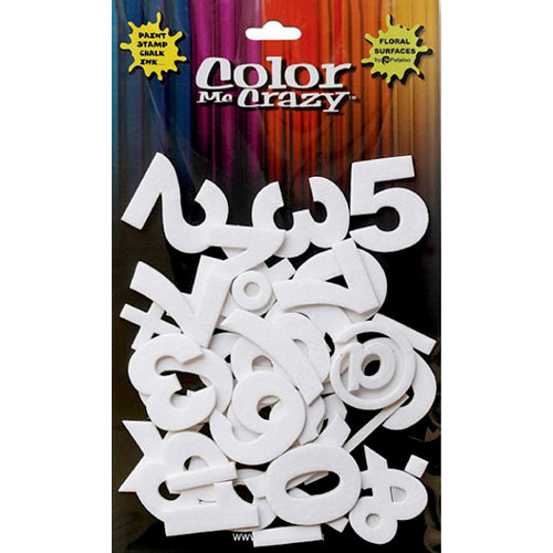 Petaloo - Color Me Crazy Collection - 3 Dimensional Foam Stickers - Numbers and Symbols