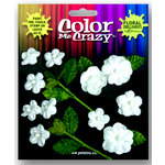 Petaloo - Color Me Crazy Collection - Velvet Mini Blossoms - Whites