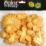 Petaloo - Color Me Crazy Collection - Mulberry Paper Flowers - Amber