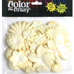Petaloo - Color Me Crazy Collection - Mulberry Paper Flowers - Cream