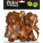 Petaloo - Color Me Crazy Collection - Mulberry Paper Flowers - Brown