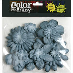 Petaloo - Color Me Crazy Collection - Mulberry Paper Flowers - Grey Blue