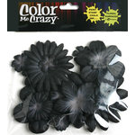 Petaloo - Color Me Crazy Collection - Mulberry Paper Flowers - Black