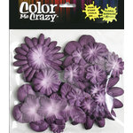 Petaloo - Color Me Crazy Collection - Mulberry Paper Flowers - Purple