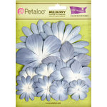 Petaloo - Color Me Crazy Collection - Core Matched Mulberry Paper Flowers - Periwinkle