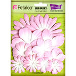 Petaloo - Color Me Crazy Collection - Core Matched Mulberry Paper Flowers - Sugar and Spice Pink
