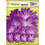 Petaloo - Flora Doodles Collection - Layering Mulberry Flowers - Pansy Purple