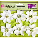 Petaloo - Flora Doodles Collection - Mulberry Flowers - Camelia - White